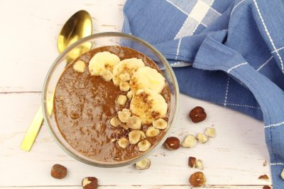 espresso hazelnut smoothie bowl